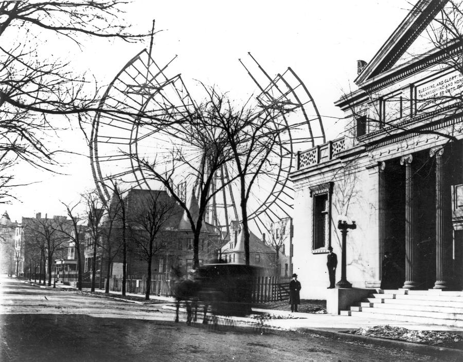 Anniversary of the 1893 World's Fair Ferris Wheel Lincoln Park construction
