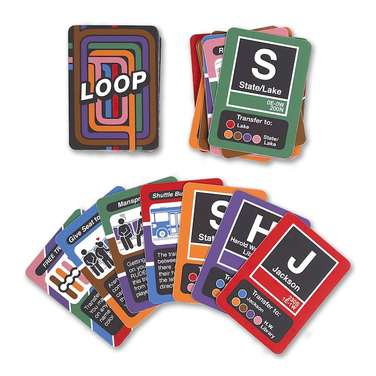 2018 Chicago Detours Gift Guide Transit Tees Loop card game