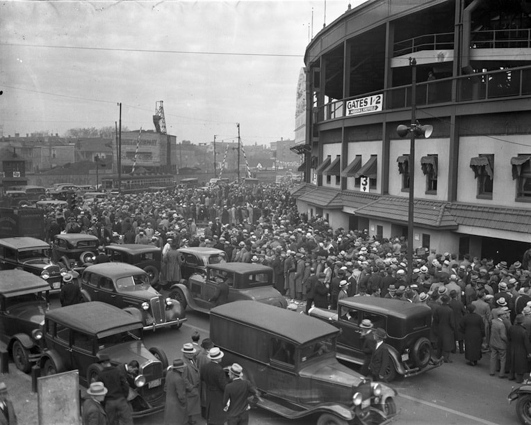 a century at Wrigley Cubs 100 crowd 1945