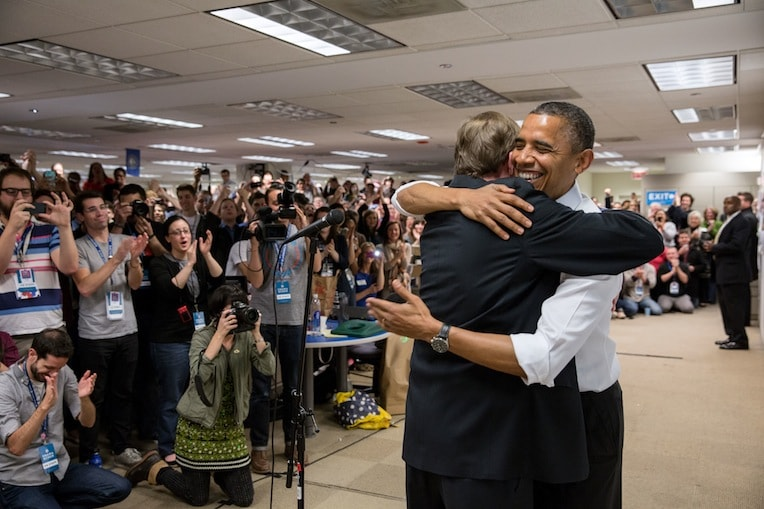 President Barack Obama Jim Messina 2012 reelection campaign office Chicago presidential history in Chicago