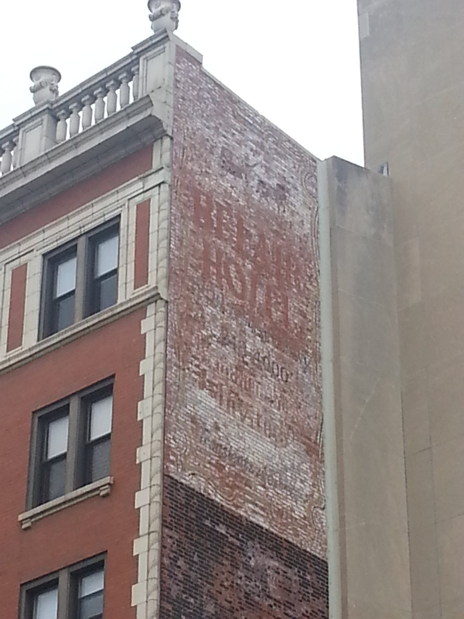 Belair Hotel Ghost signs Lakeview Lincoln Park Chicago Detours