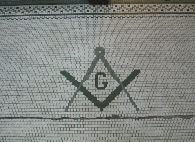 Masonic Symbol Floor of Building in Chicago overlooked chicago architecture