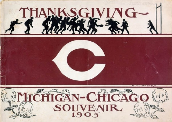 chicago maroons football 1905 monsters of the midway stagg field michigan game program