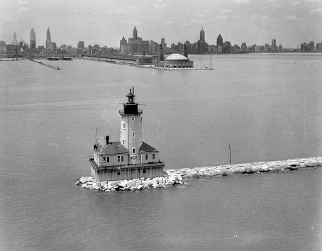 Chicago lighthouses Harbor Lighthouse 1893