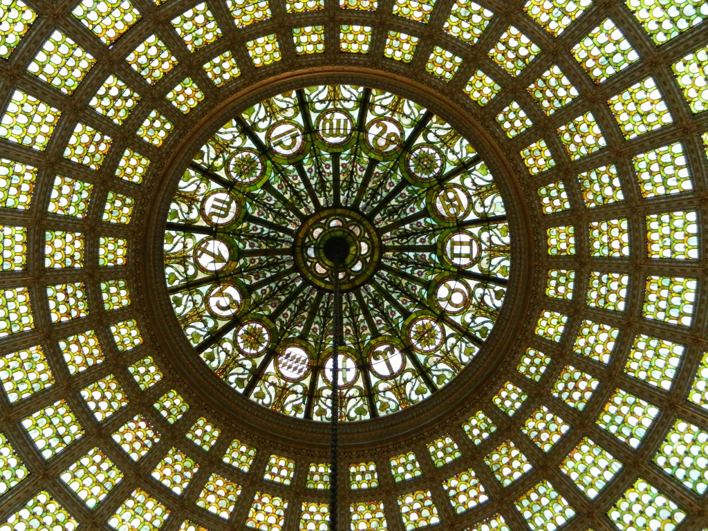 Stained Glass Dome by Louis Comfort Tiffany Chicago