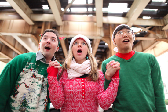 Greenhouse Theater El Stories Promo Photo Chicago at Christmas