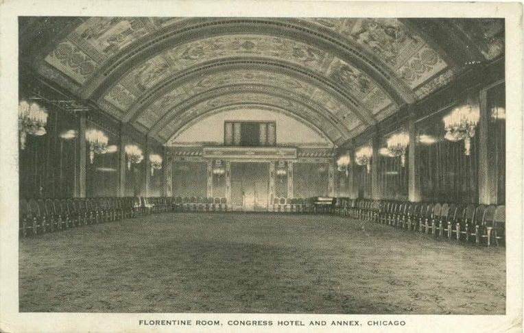 Congress Plaza Hotel Chicago's most haunted historic buildings Florentine Room Chicago's most haunted
