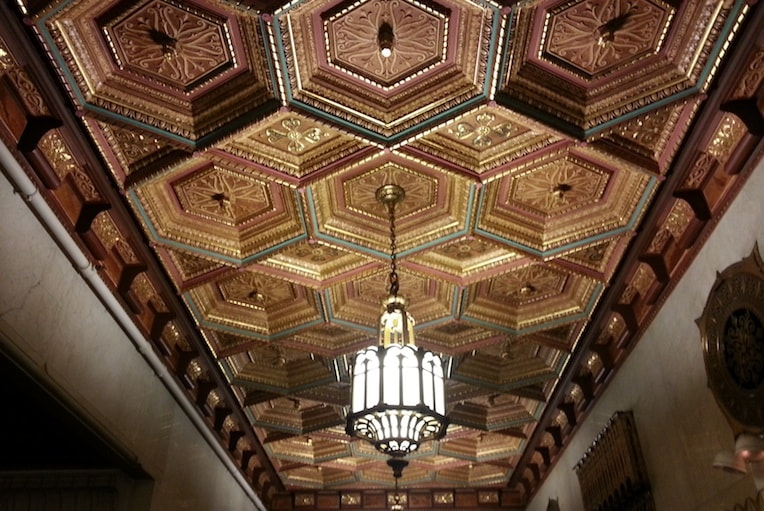 Coffered Ceilings Pittsfield Building Lobby