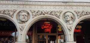 Second City facade SNL Chicago Tour Louis Sullian Garrick Theater Chicago theatre history
