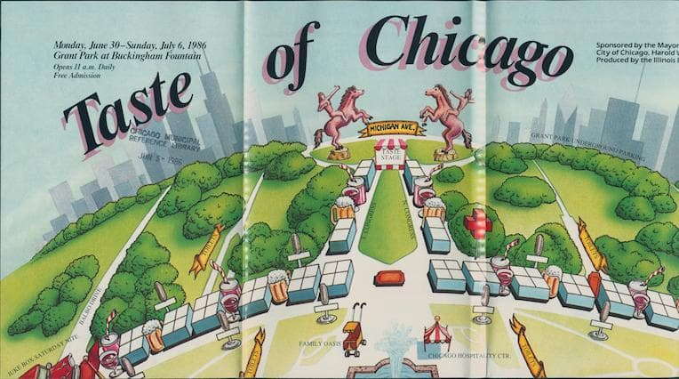 Taste of Chicago 1986 map