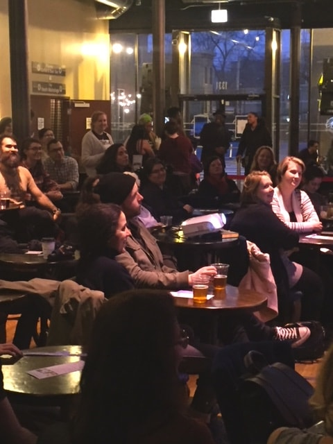 chicago women history event audience smiling