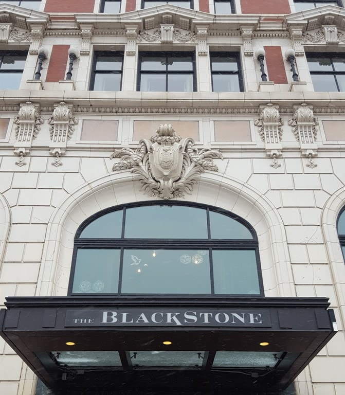 Blackstone Hotel front door facade Michigan Ave