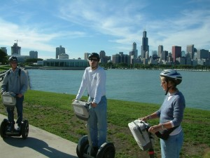 unique ideas team building in Chicago segway tour