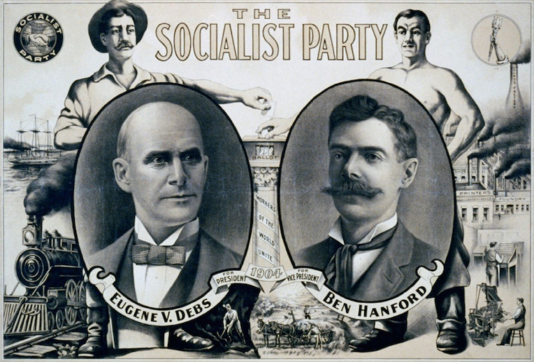drinks for cold nights Chicago Eugene Porter Eugene V. Debs Socialist President poster