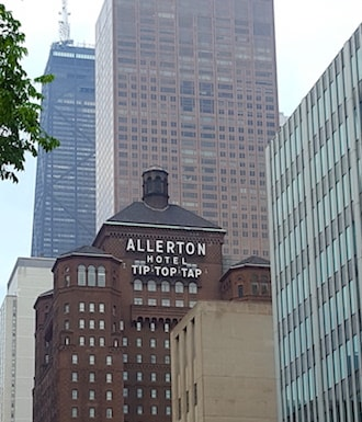 historic architecture on the mag mile Allerton Hotel