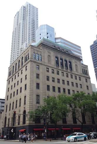 historic architecture on the Mag Mile Woman's Athletic Club