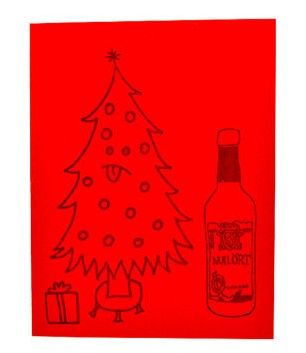 chicago holiday christmas card gift malort