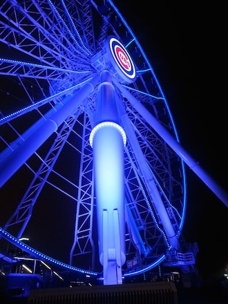 navy pier chicago detours new ferris wheel go cubs go