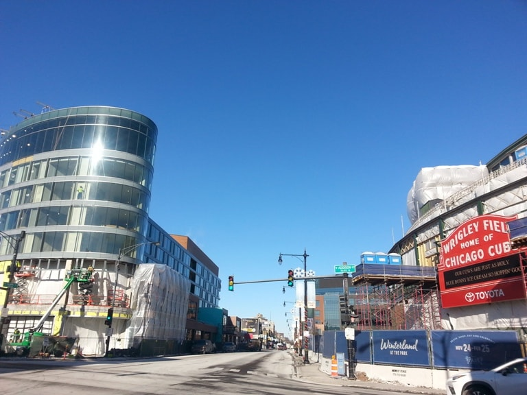 new buildings in Chicago in 2018 Wrigleyville Addison and Clark Zachary Hotel
