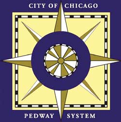 Chicago history questions Pedway logo