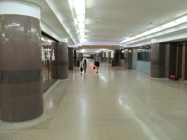 Chicago pedway map Macy's tunnel