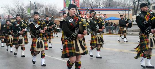 South Side Irish St. Patrick's Day Parade bagpipes