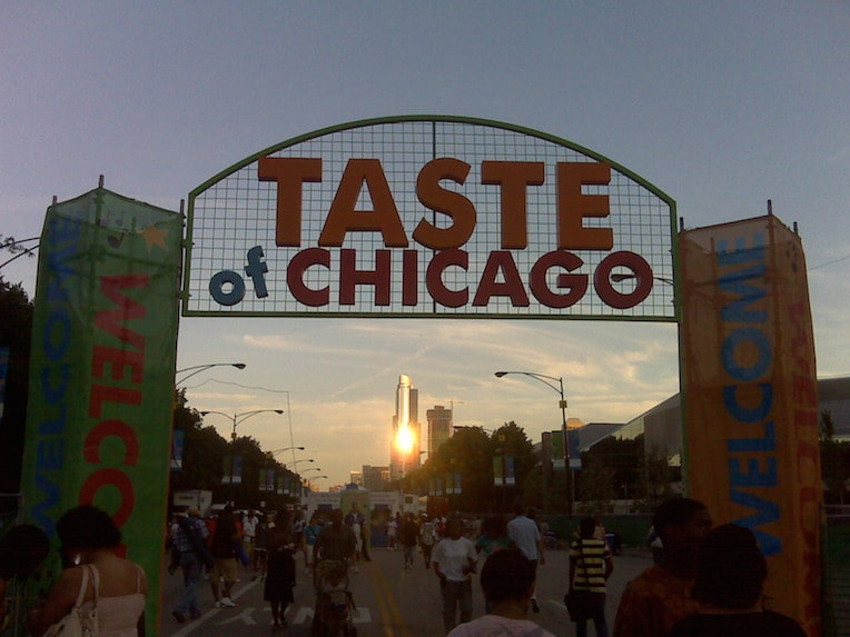 Taste of Chicago entrance 2009