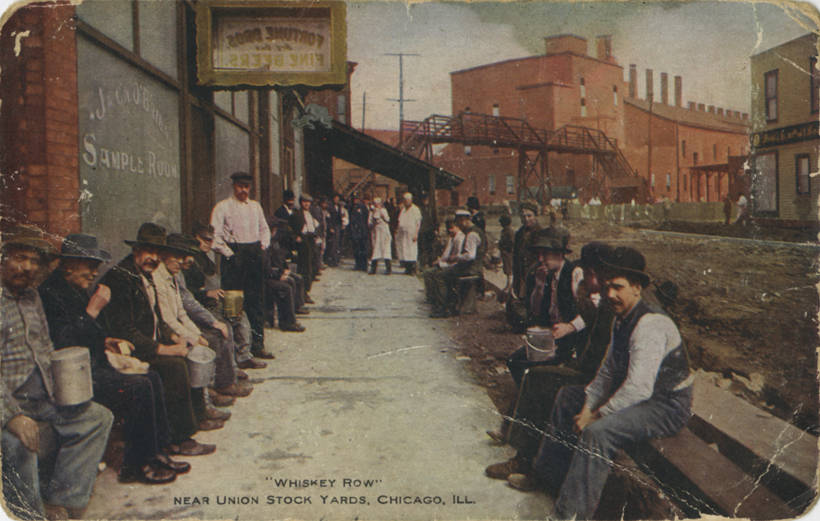whiskey row history chicago distilleries