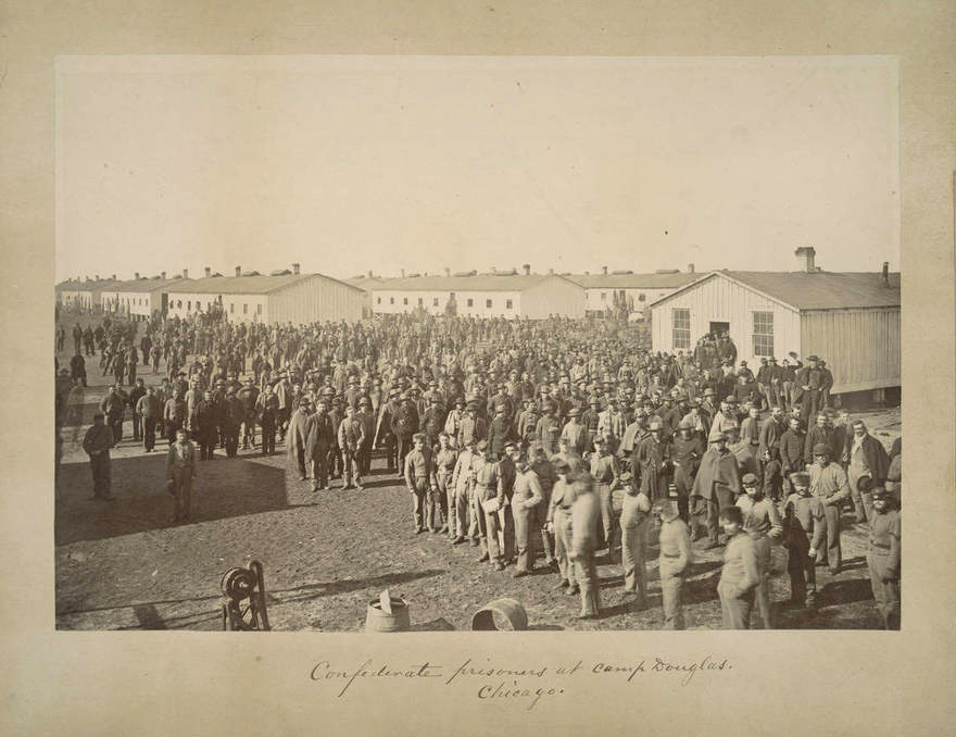 confederate prisoners camp douglas military history in chicago