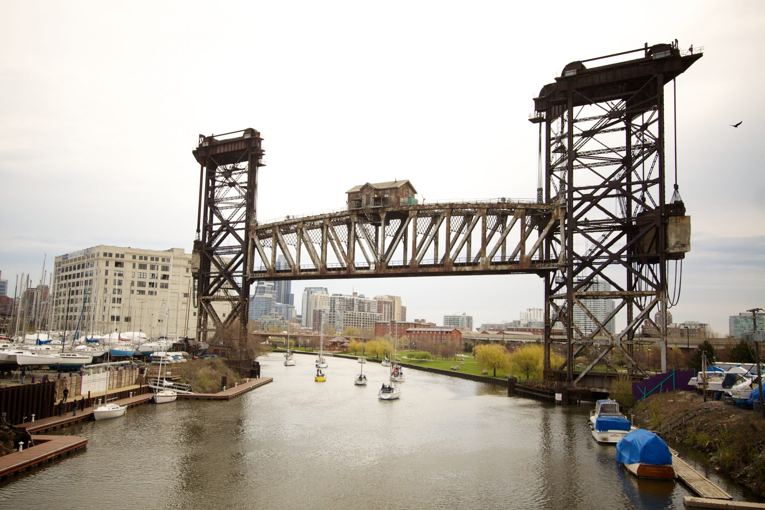 Canal Street vertical lift bridge south side tour