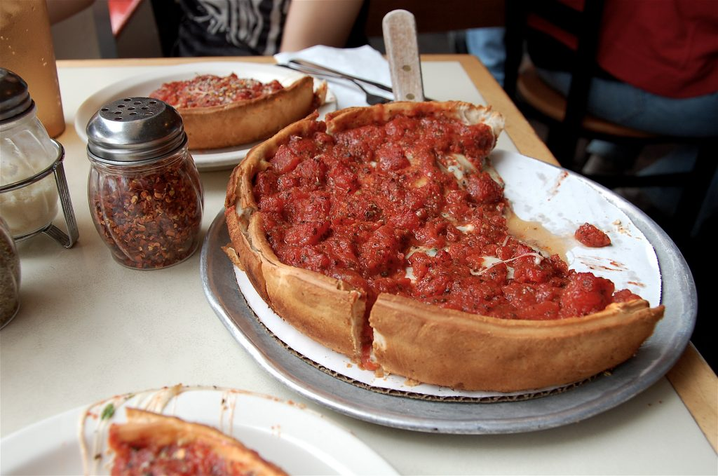 chicago deep dish pizza history