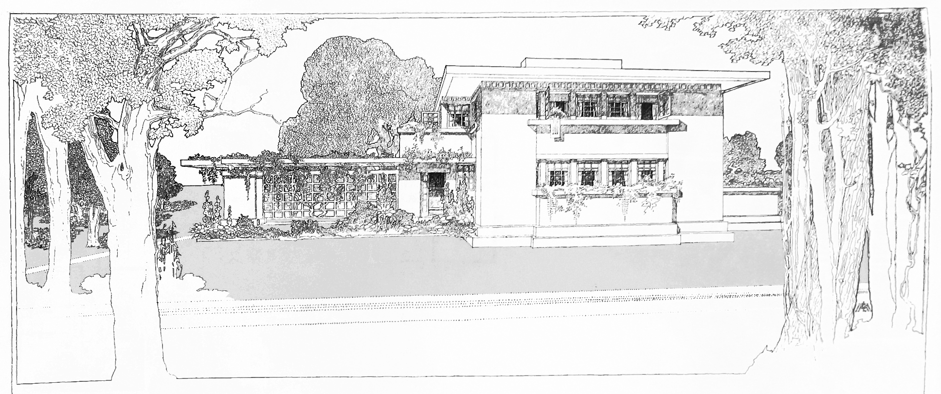 Marion Mahony Griffin A Fireproof House Frank Lloyd Wright female architects Chicago