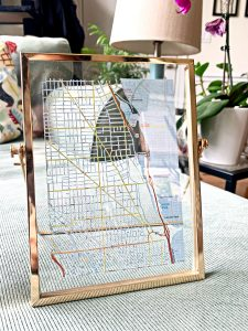 shop local gift guide hand cut street grid map