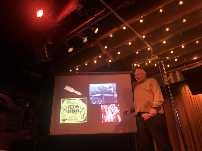 Tim Samuelson talks about Texas Guinan at Chicago Detours event