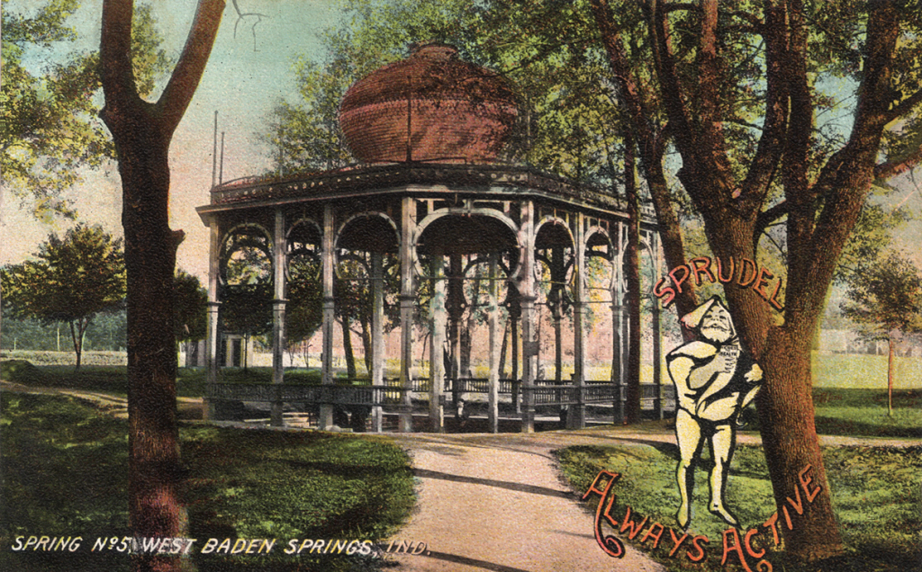detour from Chicago French Lick historic postcard