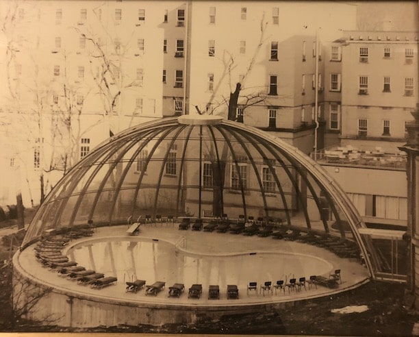 swimming pool midcentury design photo from french lick