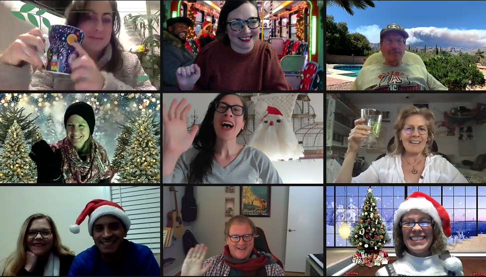virtual holiday stories happy hour chicago detours