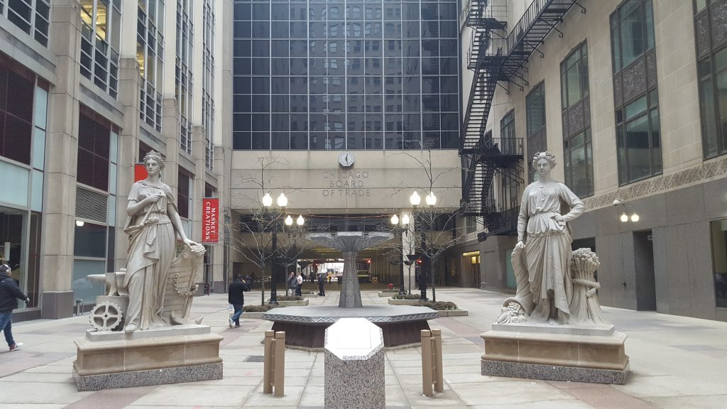 visit the Chicago board of trade lost statues